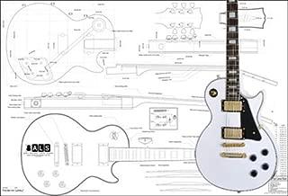 Plan of Gibson Les Paul Custom Electric Guitar - Full Scale Print