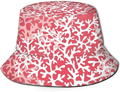 Sea Coral Reef Color Flat Top Unisex Sombrero de Pescador Gorras al Aire Libre para Viajes Playa Protección Solar Gorra de Pescador Rayas de cangrejos del océano Sombrero de Cubo Sombrero de Pescador