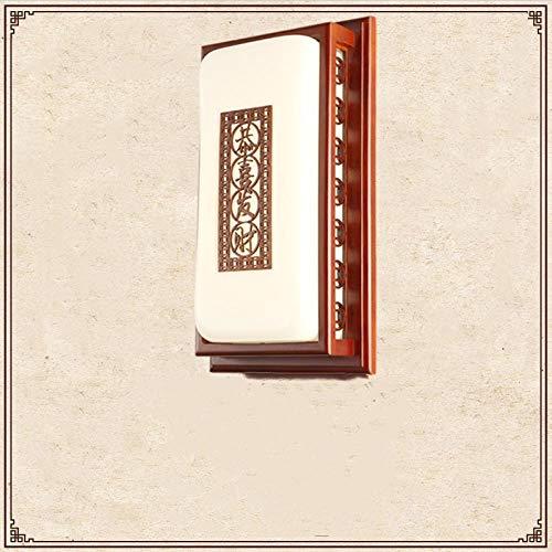 Chinesische wandleuchte, klassischen chinesischen stil massivholz antike, schlafzimmer nachttischlampe, wohnzimmer studie, gang restaurant lampe-Gong Xi Fa Cai-56 * 24 * 12 cm