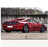ZKPWLHS ImpresionessobreLienzo 1 Unidades Supercar Ferrari F355 Challenge Classic Vehicles Poster Wall Art para Sala Decoración del Hogar (50X70Cm) Sin Marco