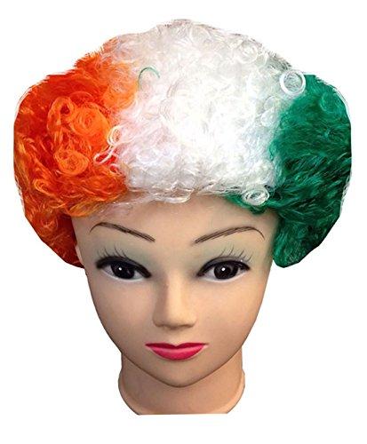 1 St Patricks Day Celebration Drapeau Irlande-Couleur bouclés perruque Déguisement Fête