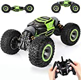 🎄Two Operating Modes: This rc stunt car comes with 4 Wheel-Drive, front and rear dual motors provide strong power torque to move on any terrain easily and stably, and reaches 9-12 miles per hour for an exciting driving experience. 🎄Powerful Control: ...