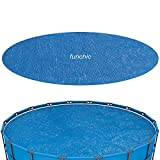 funchic 18ft Round Solar Cover,18 Foot Round Basic Pool Solar Blanket Cover for 18ft Diameter Easy Set and Frame Pools,Cover Size:17ft.3in,58173E