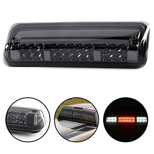 Black Housing Rear 3RD Third Center Brake Cargo Led Tail Light Lamps Compatible...