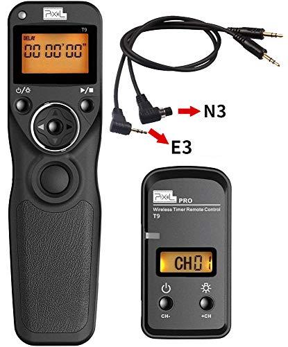 Fernauslöser für Canon, Pixel LCD Bildschirm, Timer, Serienbild und Zeitintervall Aufnahmen mit 2 Kabeln Kamera Auslöser Fernbedienung für Canon SLR-Digitalkameras EOS 1300D 300D 1000D 650D 550D 500D 450D 400D 350D 7D 5D 50D 40D 30D 20D 10D.
