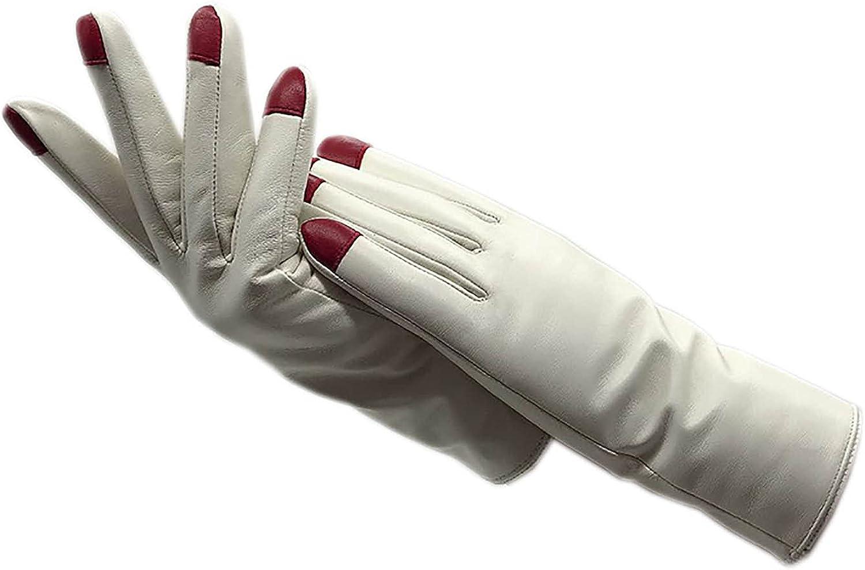Gloves winter ladies sheepskin gloves white warm and fashionable