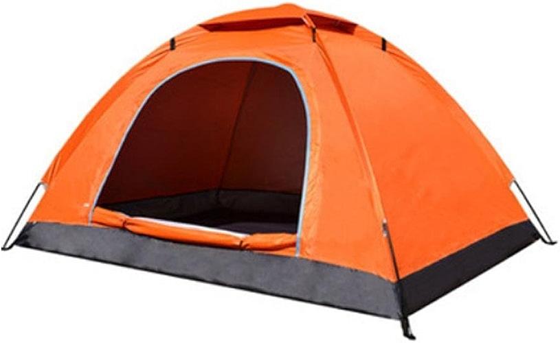 SZH&ZPT seule couche de tente de camping en plein air imperméable et coupe-vent pour 2-3 personnes parasol Orange