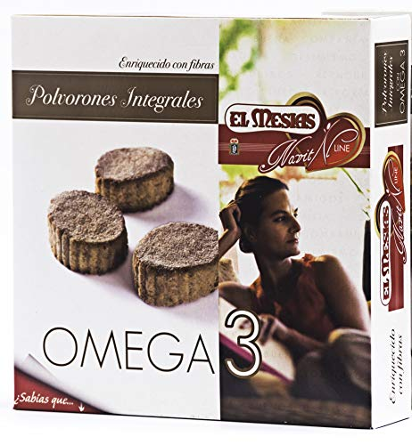 Polvorones integrales con omega 3. Origen: Estepa. 350 gr.