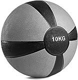 POWRX - Balón Medicinal 10 kg + PDF Workout (Gris)