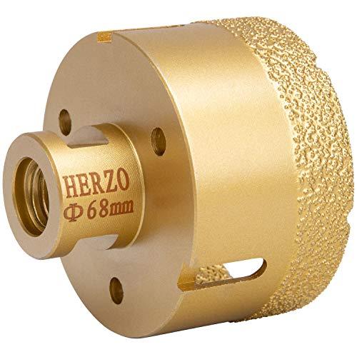 HERZO - Juego de brocas de diamante para sierra de corona (acero)