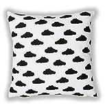 Amilian® Dekokissen Kissenbezug Kissen 80cm x 80cm Wolken Weiß