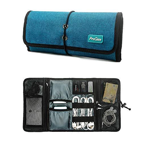ProCase Travel Gear Organizer Elektronik Zubehör Tasche, Kleine Gadget Tragetasche Aufbewahrungstasche Tasche für Ladegerät USB Kabel SD Speicherkarten Kopfhörer Flash Hard Drive -Knickente