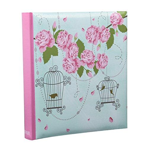 Arpan - Album per foto, 13 x 18 cm, stile vintage a forma di gabbia per uccelli, 200 pezzi, 13 x 18 cm
