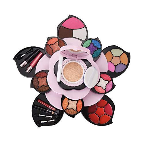 Schminke, Make-up Box Set Rotierende Aufbewahrungsbox Große Pflaumen Make-up Box Set Lidschatten-Palette Lippenstift Set Make-up Kit Kosmetiktasche Valentinstag Geschenk
