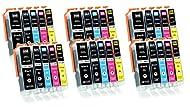 30 XL Ink Cartridges compatible with Canon PGI-550 CLI-551 for Pixma IP7200 IP7250 IX6800 IX6850 MG5...