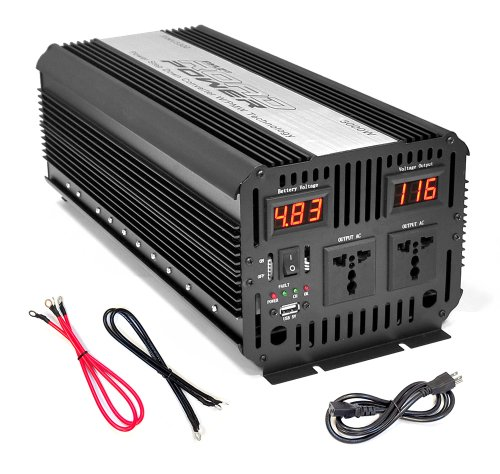 Pyle PINV3300 Plug In Car 3000 Watt 12V DC to 115 Volt AC Power Inverter with USB Outlet