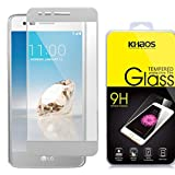 Khaos for LG Phoenix 3 HD Clear Tempered Glass Screen Protector, Full Coverage with Lifetime Replacement Warranty -Silvery
