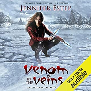 Venom in the Veins                   Written by:                                                                                                                                 Jennifer Estep                               Narrated by:                                                                                                                                 Lauren Fortgang                      Length: 9 hrs and 37 mins     3 ratings     Overall 4.0