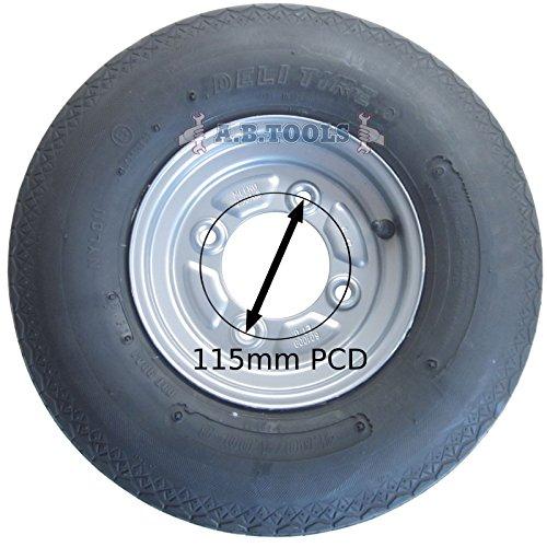 AB Tools Remolque de neumático y llanta 4.00-8 6 PLY 115mm PCD Erde DAXARA TRSP17