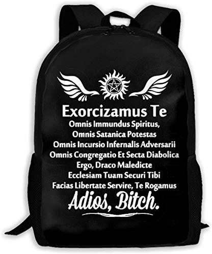 TTmom Schulrucksack,Schüler Bag,Rucksack Damen Herren Supernatural Exorcism Adios Bitch Unisex Backpack Shoulder Bag School Backpack Travel Bags Laptop Backpack