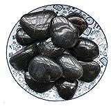 ZHANGKAIXUAN Rocas de jardín Grava Decorativa Grava Pulida for Peces de Agua Dulce Planeta Planeta Aquariums Decoración for el hogar Zen Garden Plantas suculentas Negro Bricolaje Rocas intensamente