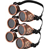 3 Pieces Steampunk Cyber Goggles Glasses Vintage Victorian Goggles Cyber Punk Gothic for Cosplay and Costumes
