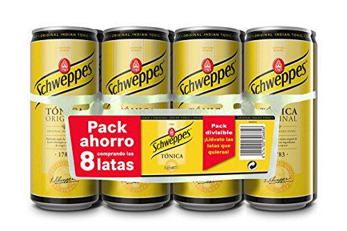 Schweppes Tnica - 8 latas, 2640 ml - [Pack de 4]
