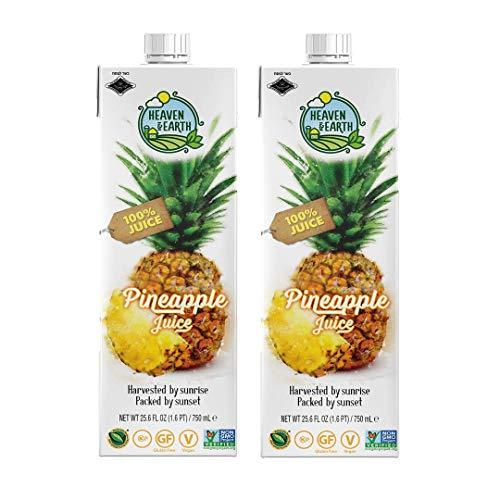 Heaven & Earth 100% Queen Pineapple Juice 25.6 oz (2 pack)