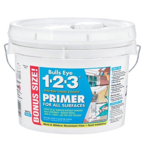 RUST-OLEUM 02025 Zinsser Bulls Eye 1-2-3 Primer Sealer, 2.5 Gal