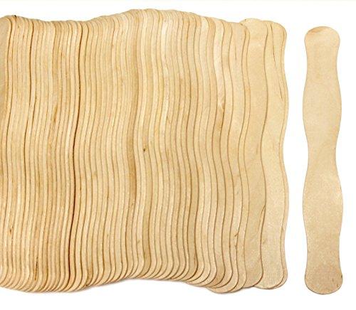 200 Natural Wavy Jumbo Wood Fan Handles Wedding Fan Sticks by CraftySticks