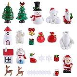 GER 30 Stück Weihnachtsfiguren, Weihnachtsmann-Weihnachtsbaum, niedliche Cartoon-Micro-Landschaft...