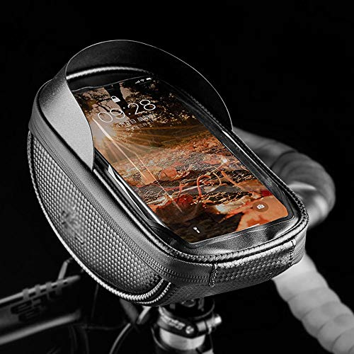 HongTeng-bolsa de bicicleta Bastidor de la bicicleta bolsa, tubo de dirección bolsa, Montar bicicleta bolsa, bolsa de manillar de bicicleta, Teléfono móvil capítulo de pantalla táctil del bolso, de gr