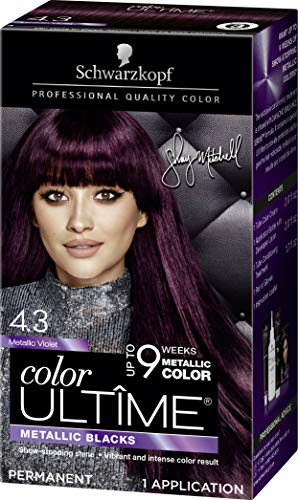 Schwarzkopf Color Ultime Metallic Permanent Hair Color Cream, 4.3 Metallic Violet