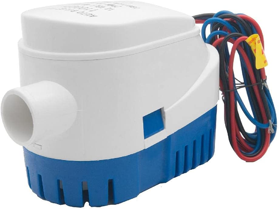 In stock 12 Volt 1100 GPH Automatic Drain Kansas City Mall Auto Bilge with Pump Float Boat