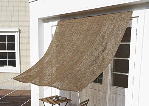 アストロ サンシェード 2×2m ブラウン ハトメ穴・ひも付き 日よけ・目隠し 風通し良好 608-10