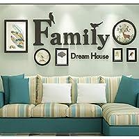 フォト額縁フォトウォール、シンプルでモダンなソファーの背景の壁の小さな新鮮な寝室ぶら下げ絵画フォト写真表示フレーム