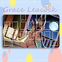 GraceLeacock カードゲームプレイマット 遊戯王 プレイマット Azur Lane アズールレーン 長門 陸奥 アニメグッズ TCG万能 収納ケース付き アニメ 萌え カード枠あり (60cm * 35cm * 0.5cm)