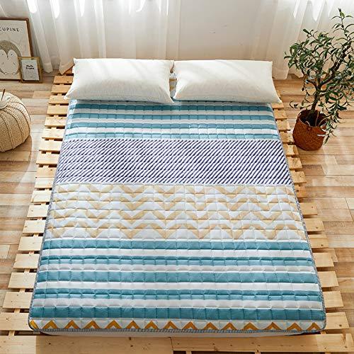 MYYU Colchon Tatami Suelo Tradicional Japonés Futón Colchón Plegable Acolchado Colchón De Futón Estera para Dormir Yoga Mat Cojín,6,120 * 200cm