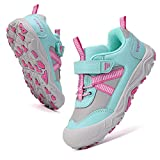 Yapoly Hiking Shoes Boys Girls - Toddlers Athletic Shoes Waterproof Anti-Collision for Trekking Trailing Camping Walking Running - Outdoor Kids Shoes Non-Slip for Little Big Kids SkyBlue 29