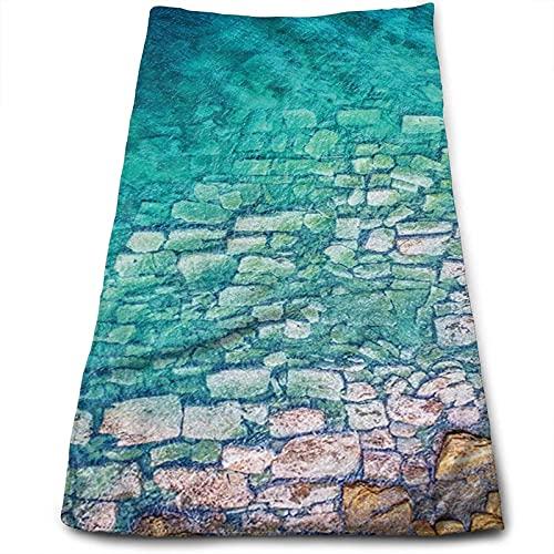 DLJIYZX Toallas de Mano Playa Ocean Waves Toalla de Cara Impresa Toallas de baño Suaves y Altamente absorbentes Multiuso 30X70CM