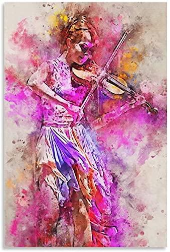 Iooie Leinwand Druck Poster Lindsey Stirling Berühmter Geiger für Veranda Dekor Wandkunst Kunstwerk Malerei Kunstdrucke Bild 11.8