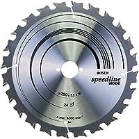 Bosch 2 608 640 680 - Hoja de sierra circular Speedline Wood (250 x 30 x 3,2 mm, 24)