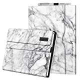 Fintie Case for 12.3 Inch Microsoft Surface Pro 7, Surface Pro 6, Surface Pro 5, Surface Pro 4, Pro 3 - Portfolio Business Cover with Pocket, Compatible with Type Cover Keyboard (Marble)