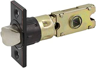 Design House 582197 Emblem Series locksets 6-Way Universal Square Spindle Entry Latch, Oil Rubbed Bronze