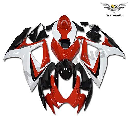 New Red White Black Fairing Fit for SUZUKI 2006 2007 GSXR 600 750 Injection Mold ABS Plastics Bodywork Bodyframe