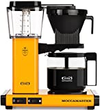 Technivorm Moccamaster 59608 KBG. 10-Cup Coffee Maker, 40 oz, Yellow Pepper