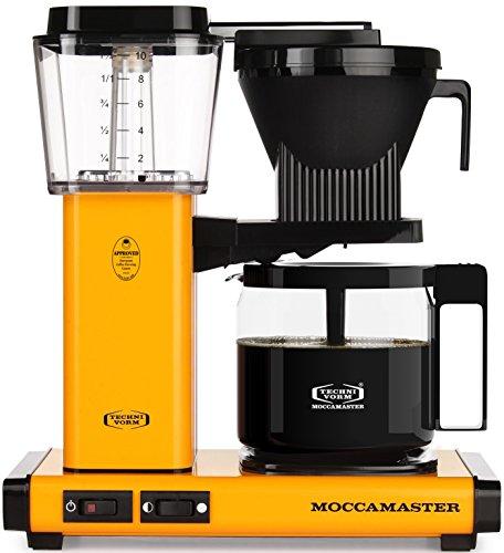 Technivorm Moccamaster 59608 KBG. 10-Cup Coffee Maker, 40 oz, Yellow Pepper