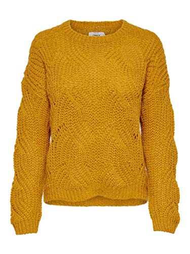 ONLY Damen Strickpullover Struktur MGolden Yellow
