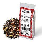 Té Rojo. Pasión Turca. Blend. Con Té Pu Erh (Té Rojo), Canela (7%), Manzana (11%), Naranja (9%). Antioxidante. Diurético. 100 gramos
