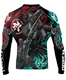 Raven Fightwear Men's East Meets West MMA Rash Guard Black 3X-Large